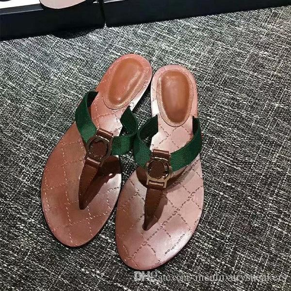 1821357ec3ef Luxury Slippers Women Thong Web Sandal Handmade Walking Green And Red Web  With Black Leather Trim Sandals Slippers Mules Slides Thongs Knee High  Boots ...