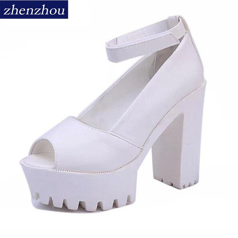f8be05f7cb7b Designer Dress Shoes 2019 Summer Style Sexy Open Toe High Heel Sandals  Thick Heel Sandals Hasp Fashion Platform Women High Geox Shoes Dress Shoes  For Men ...