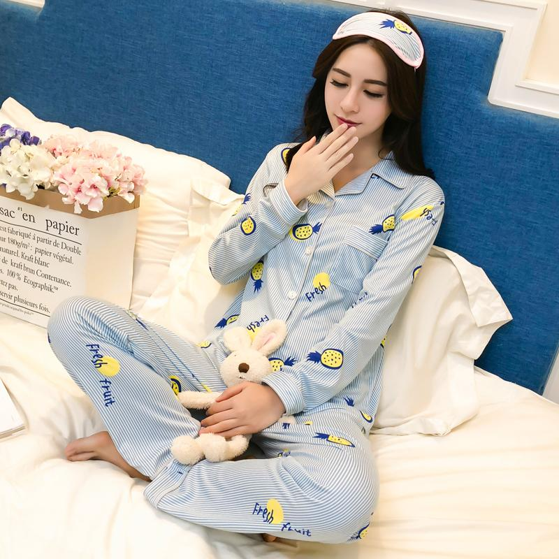 Cute Stripe Fruit Pajamas For Women Pyjamas Sets 2019 Fashion Long Sleeve  Tosp+Pants Home Clothes With Eye Patch Sleepwear UK 2019 From Donaold 56c05fe08