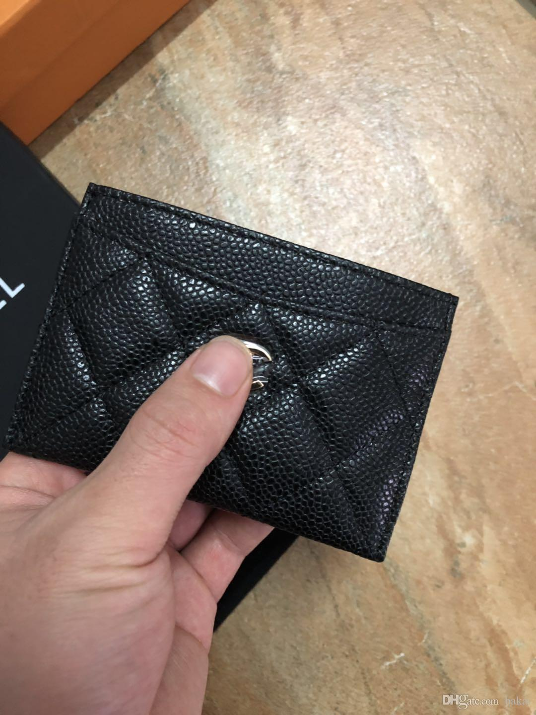 black best quality designer cardholder with box women brand Genuine Leather square wallet leather purse women Money wallet designer wallet