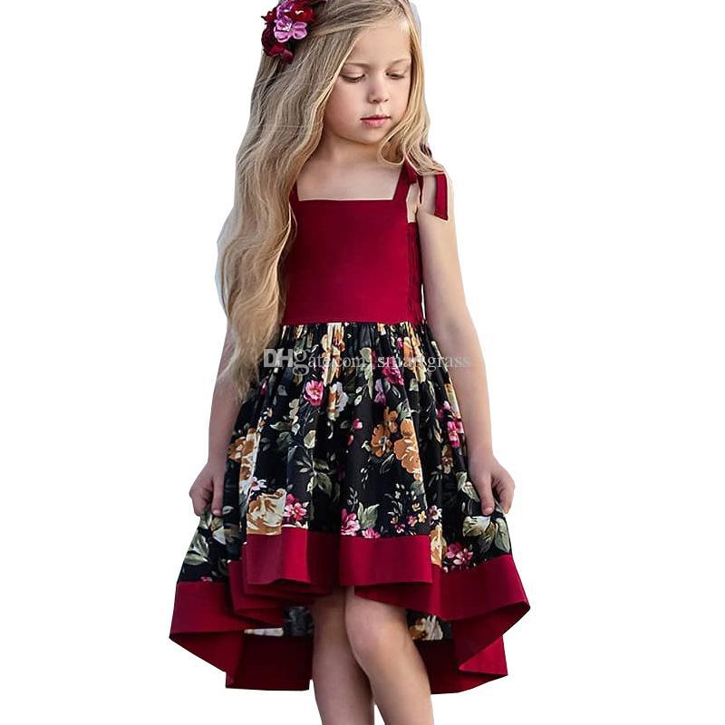 57925cd3f Vestidos casuales de verano para niñas Vestidos florales Vestidos para  niñas Diseño de moda Short Sundress delantero 18121301