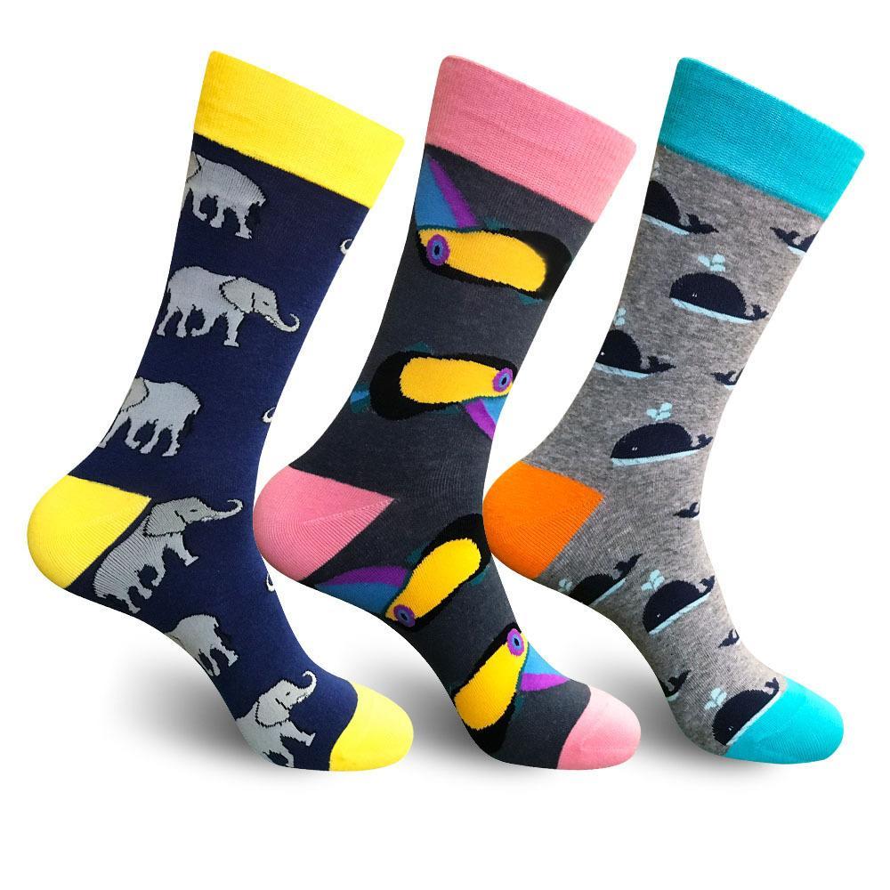 267ebf042485 2019 Sweat Absorption 3 Styles Cartoon Socks Lovely Animals Happy Socks  Funny Breathable Dress Socks Riding Running Jogging Lovely Pattern M167Y  From Artini ...