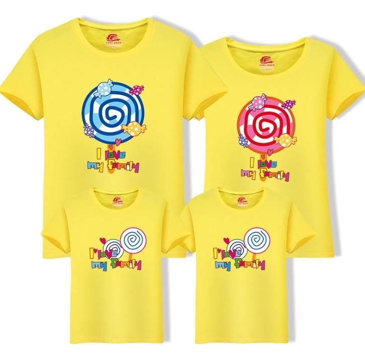 f4a0d9af04d9c Mom Dad Daughters Sons T-shirts 2019 New Family O-neck Cartoon T Shirt  Clothes Cotton Tops One Piece Child Family Clothing Fy057