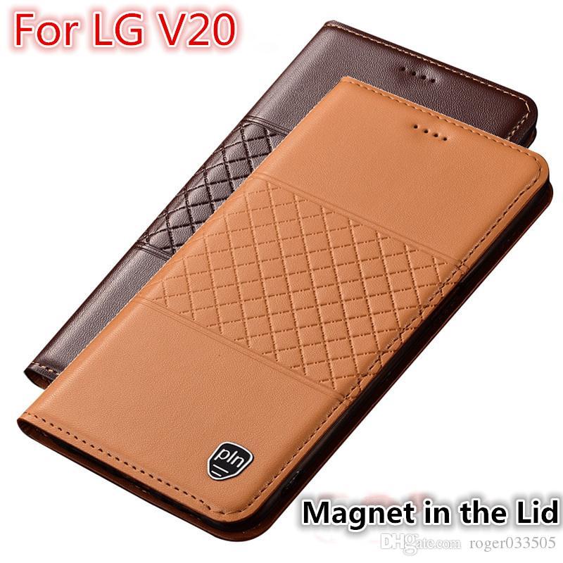 brand new 634ac 0b874 QX01 Genuine Leather Phone Case With Card Holder For LG V20 Case For LG V20  Flip Case For LG V20 Phone Bag