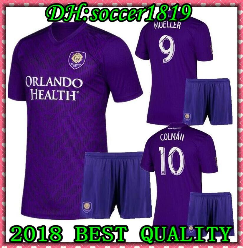 9641b932542 2019 2019 2020 Men Kits MLS Futbol Club Orlando City Home Soccer Jersey 19  20 Orlando City Home Men Jerseys Uniforms Football Shirt Kit Maillot From  ...