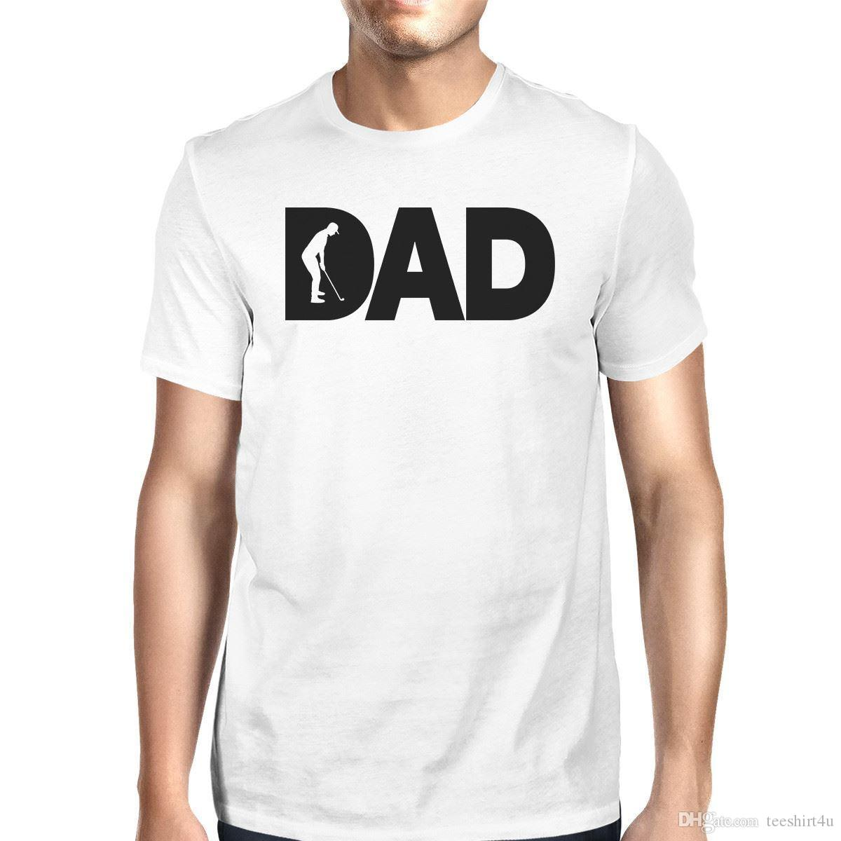 Dad Golf Mens White Cotton T-Shirt Funny Fathers Day Gifts For Him T-Shirt Men Male Best Deals Custom Short Sleeve XXXL Couple Camiseta