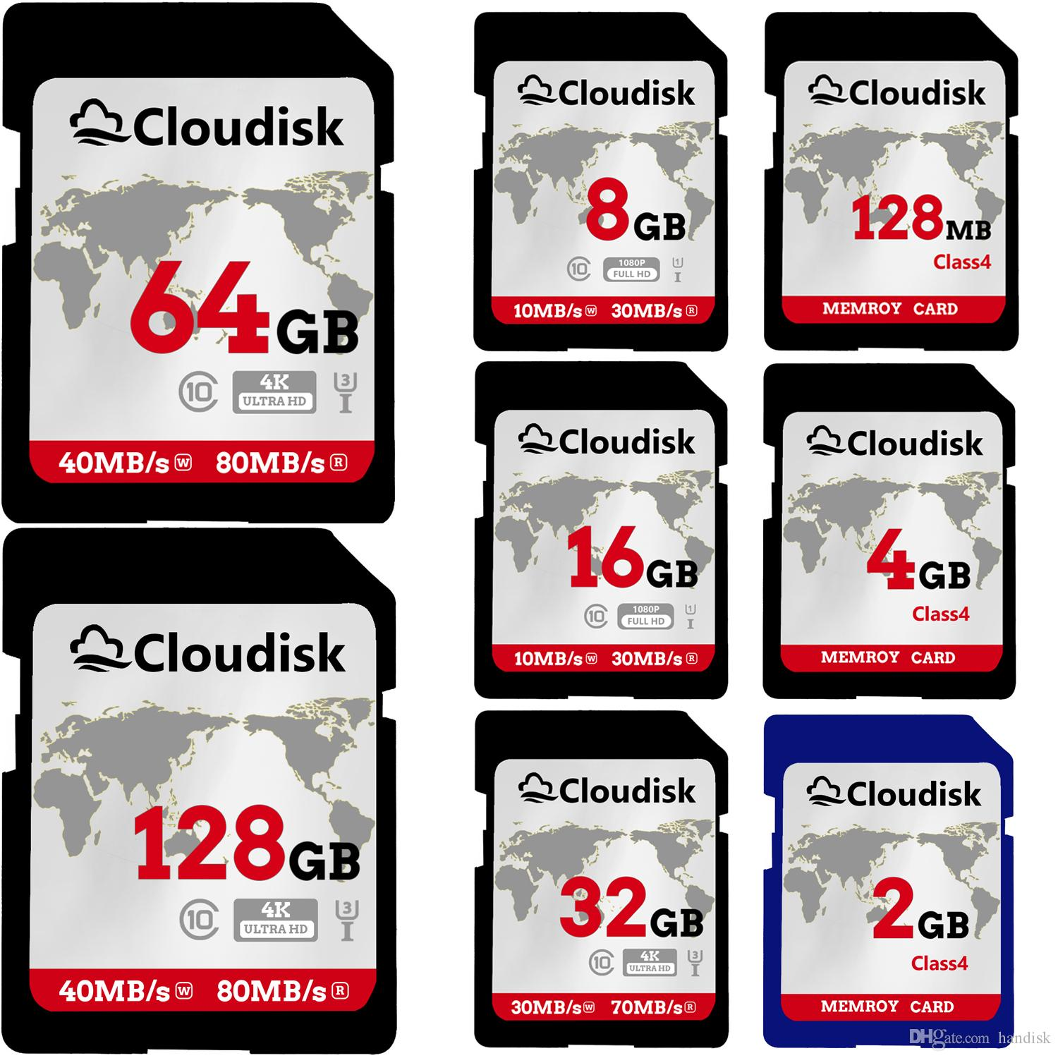 SD Card 128MB 1GB 2GB 4GB 8GB 16GB 32GB 64GB 128GB SDXC UHS-I Card - C10, U3, V30, 4K UHD, SD Flash Memory Card