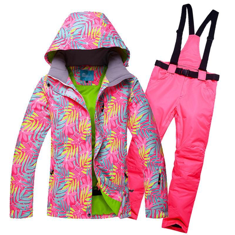 2019 Waterproof Windproof Ski Suit Women Snowboard Jacket Pants Winter  Snowboard Jacket Pants Mountain Skiing Suit Women Snow Clothes From  Jingtianwat bc1172665