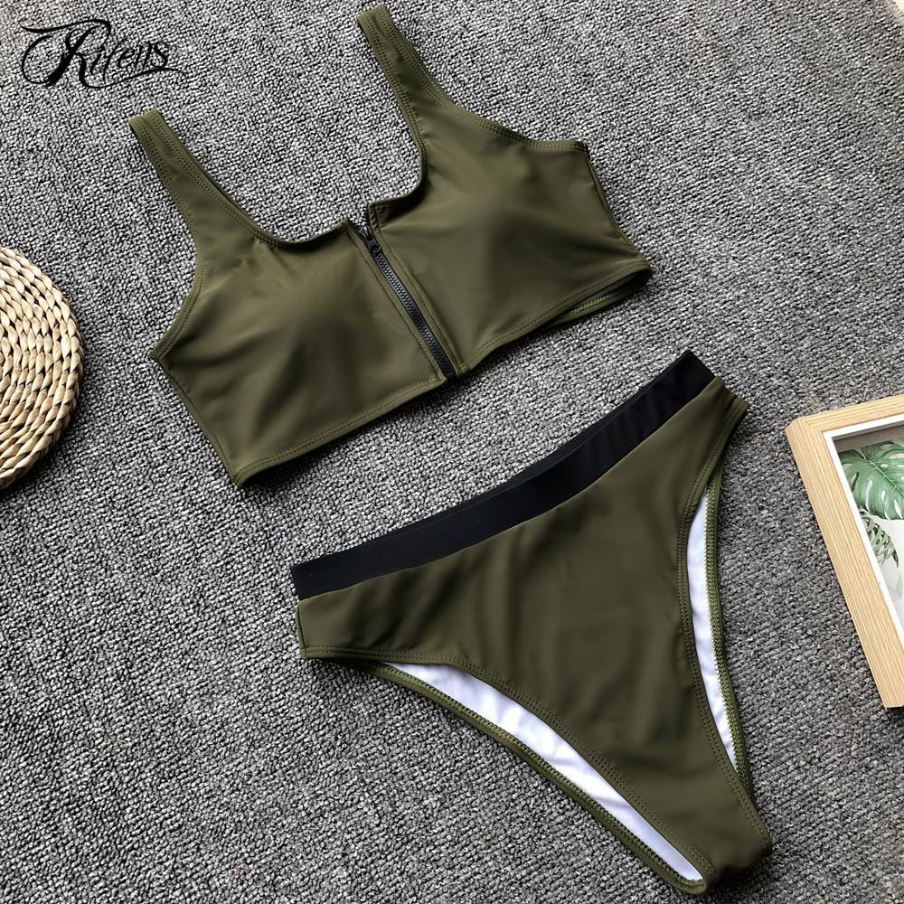 e6cda02121 2019 Urifens Biquini Sexy Swimsuit High Waist Bikini Set 2019 Mujer Bathing  Suit Women Push Up Solid Moda Praia Beach Swimwear LJN01 From Yanmai, ...