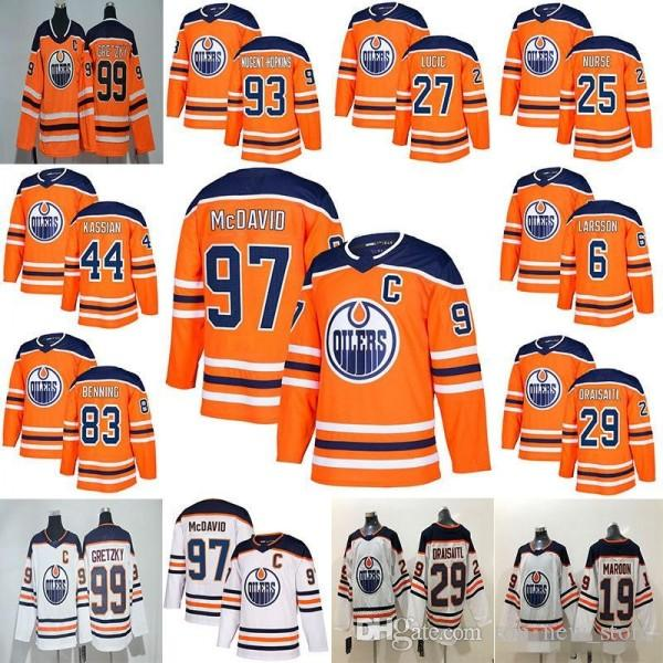 74ba237e2 2018 News Edmonton Oilers 97 Connor McDavid Jersey 99 Wayne Gretzky ...
