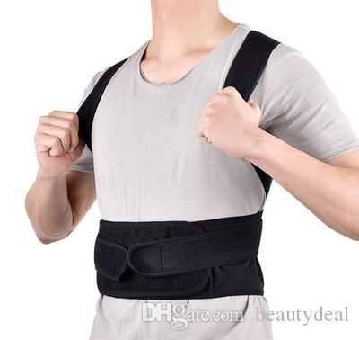 c2f5b6aa14 Back Posture Corrector Shoulder Lumbar Brace Spine Support Belt Adjustable  Adult Corset Posture Correction Belt Body Health Care Lower Back Support  Brace ...