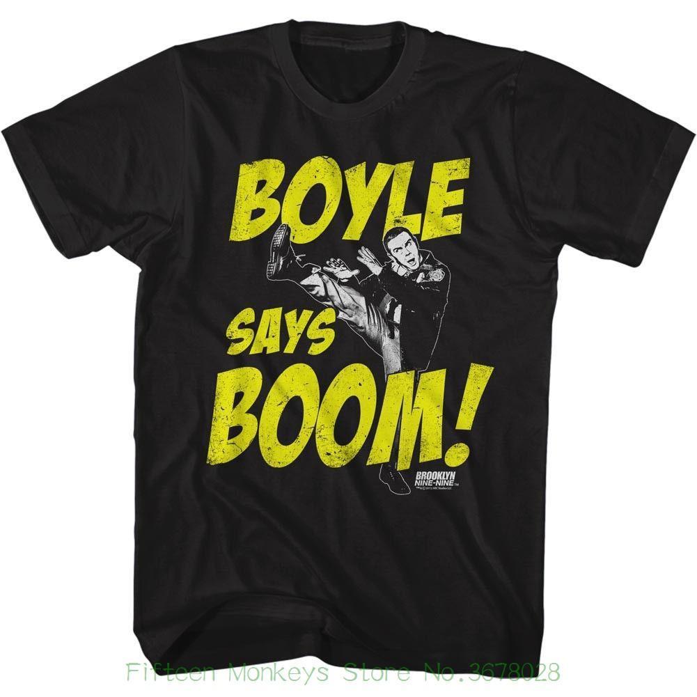 2d5469d39a Acheter Tee Shirts En Coton Pour Hommes Brooklyn Nine Nine Boom Black De  $12.08 Du Jie033   DHgate.Com