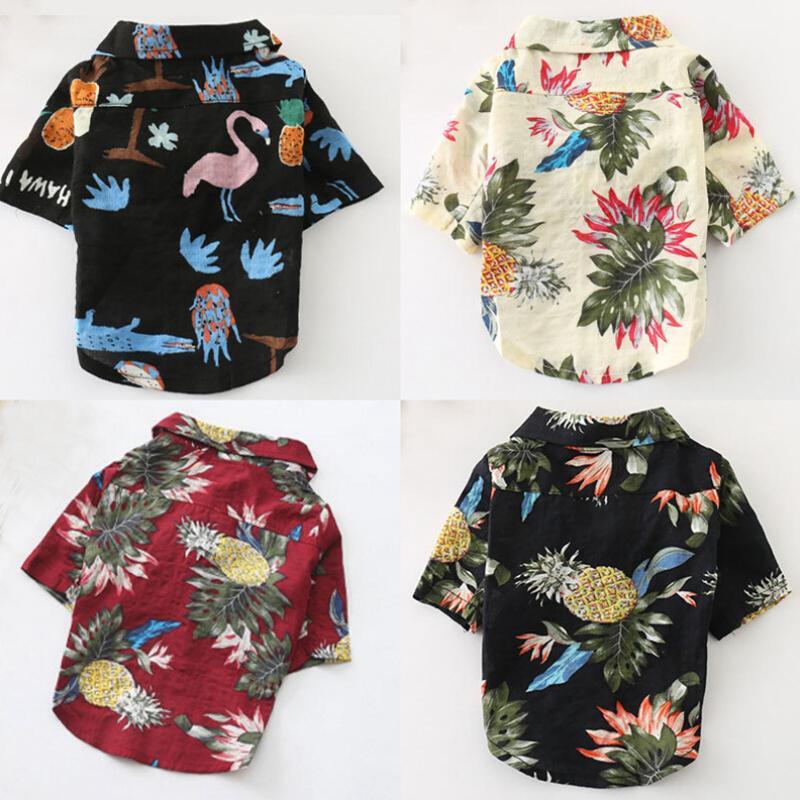 1c635174 2019 Dog Shirts Cotton Summer Beach Shirt Short Sleeve Summer Beach Apparel  Short Sleeve Pet Clothes Dog Top Floral T Shirt Hawaiian Tops From  Margueriter, ...