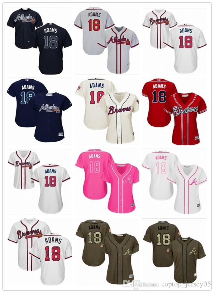 b1ded7c5 2018 top Atlanta Braves Jerseys #18 Matt Adams Jerseys men#WOMEN#YOUTH#Men's  Baseball Jersey Majestic Stitched Professional sportswear