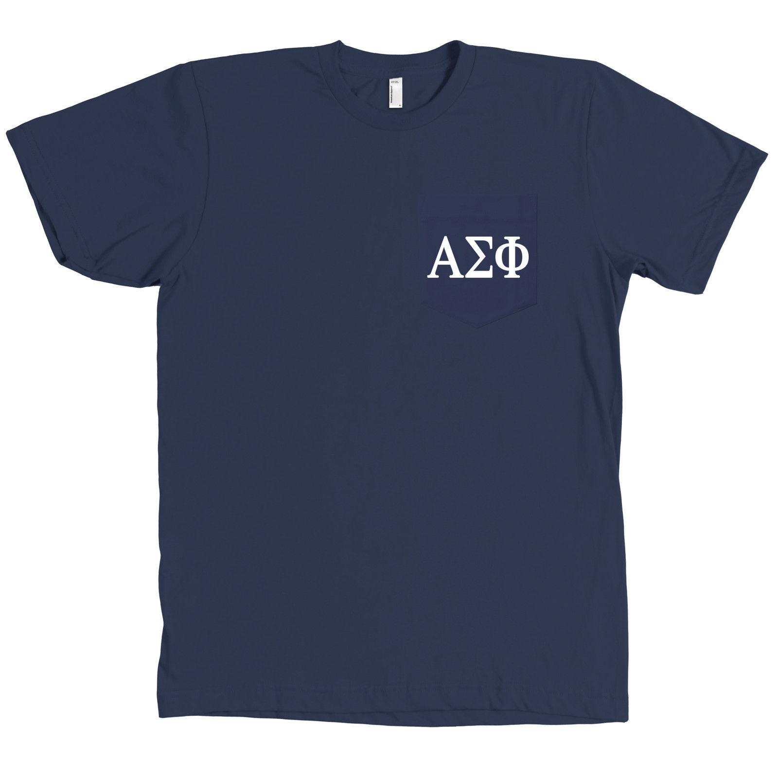 bd3148dda5bd Alpha Sigma Phi Bella + Canvas POCKET Navy T Shirt Fraternity Letters Tee  NEW Personality 2018 Brand Men Classic Casual T Shirt Tee Designs Neck T  Shirts ...