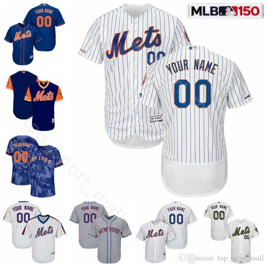 online store be964 2ccbd New York Baseball Mets 30 Michael Conforto Jersey 48 Jacob deGrom 34 Noah  Syndergaard 32 Steven Matz 45 Zack Wheeler Pinstripe Custom Name