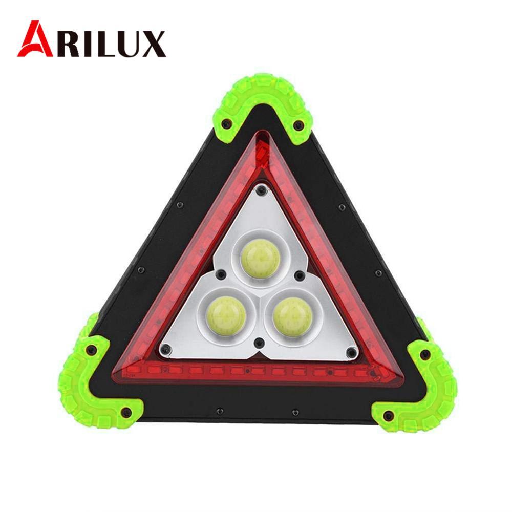 36 Voiture Extérieur 3 Lampe Cob Projecteur Led Triangle De Lumière Camping Arilux Portatif Poignée Travail Réparation Secours dBhQrCxtso