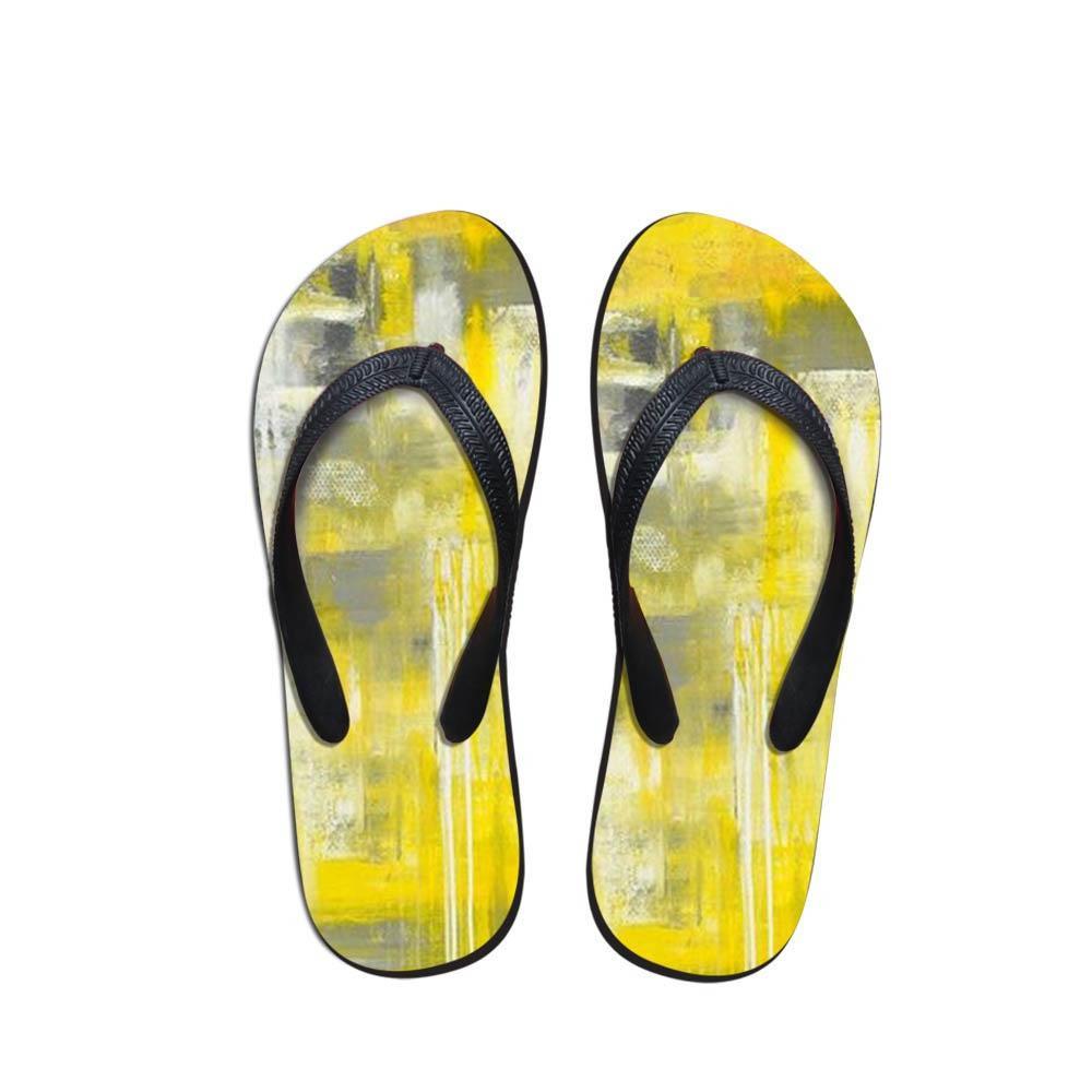 3ccd341af573 Simple Design Men s Flip Flops Beach Shoes OutsideHand-Painted Sandals  Flops Sandals Man Summer Simple Design Flop