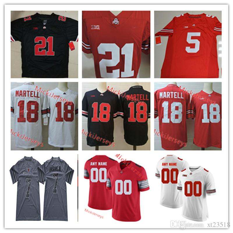 super popular 0391c e2061 Custom Ohio State Buckeyes Football Jersey Master Teague Shaun Wade Mike  Weber Marcus Williamson Tate Martell Chase Young Ohio State Jersey