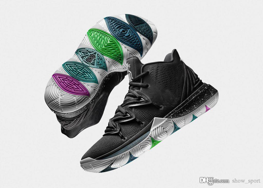 save off d7fd8 55d11 Acquista Nike Kyrie Irving 5 Designer 5 Scarpe Da Basket Kyrie Black Magic  Taco Zoom Turbo 5S Scarpe Da Ginnastica Da Uomo Scarpe Da Ginnastica  Chaussures ...