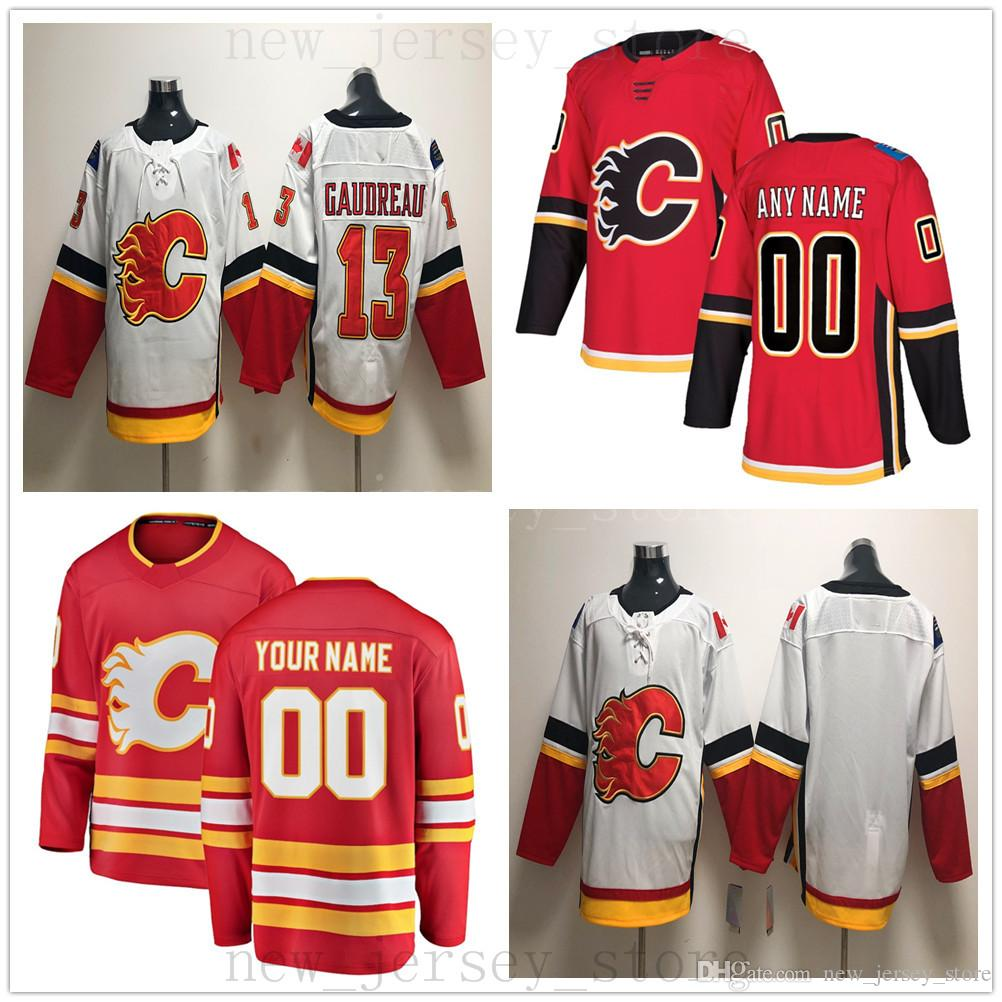 3ed9d15e5 Compre Calgary Flames Custom Hockey Jersey 2019 Nuevo 33 David Rittich 10  Derek Ryan 41 Mike Smith 26 Michael Stone Matthew Tkachuk Juuso Valimaki A   26.39 ...