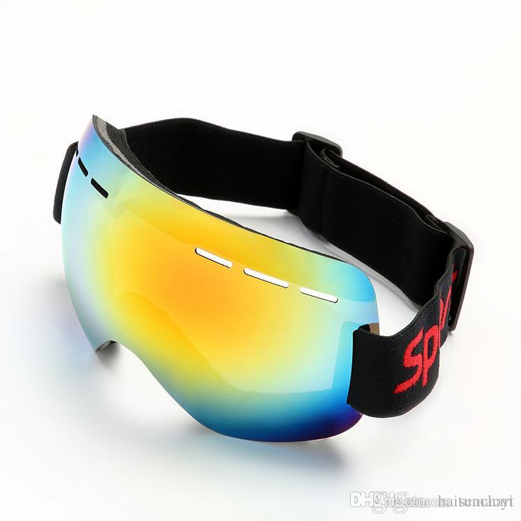 76991ab8f1c 2019 Ski Goggles Men Women Snowboard Goggles Glasses For Skiing UV400  Protection Snow Skiing Glasses Anti Fog Ski Mask NY103 From Haitumaoyi