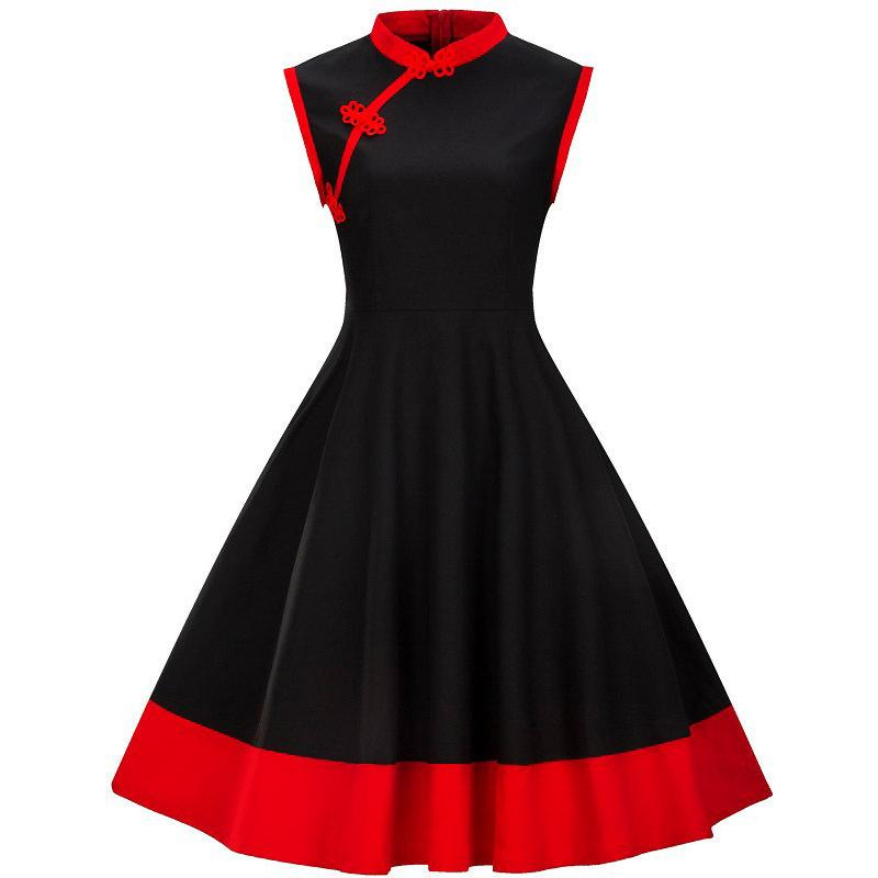 Acquista 3XL 4XL Plus Size Abbigliamento Donna Pin UP Vestidos Summer Retro  Casual Party Robe Rockabilly 50 S 60 S Abiti Vintage Y190117 A  14.96 Dal  ... 35e56617df5