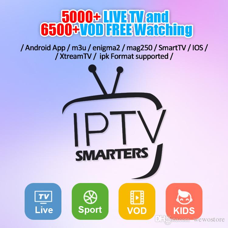 IPTV Account 6000 Live TV and Movies channels Free IPTV Subscription For  Android TV Box Abonnement IPTV free test 30 countries M3U Mag Box