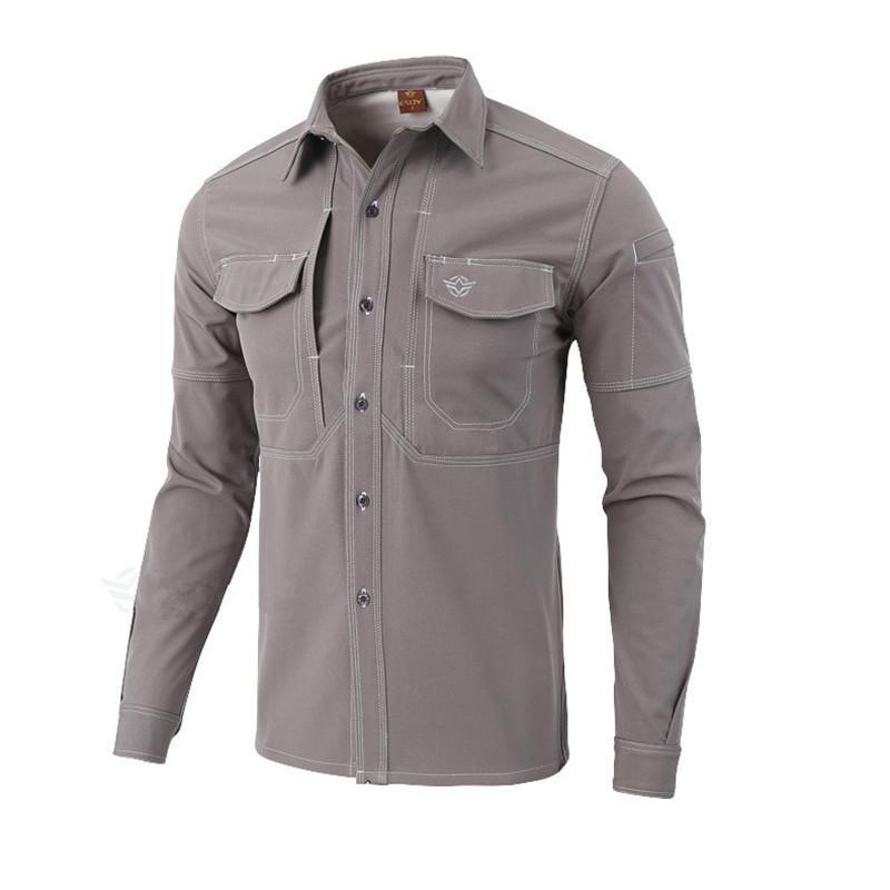 check out b1d00 d3786 Camicie sportive outdoor marca ESDY Warm Camicia a maniche lunghe calda  100% cotone S-XXL Camicia cargo cargo antiusura antiusura uomo allentato