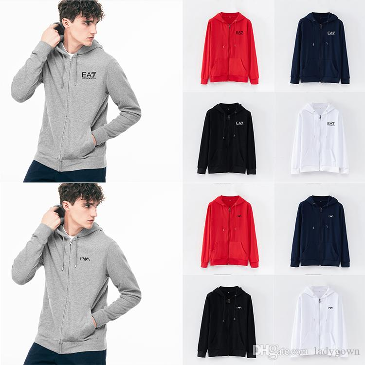 Free shipping 2019 new Hot sale Mens polo zip-up Hoodies and Sweatshirts autumn winter casual with a hood sport jacket men's hoodies