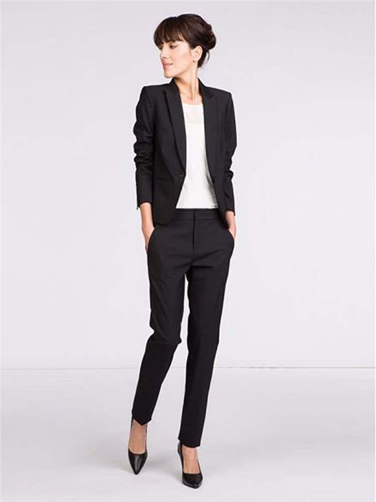 5c7d75b083ea Jacke Pants Frauen Anzug Schwarz Lange Ärmel Blazer Set Weibliche Büro  Uniform Damen Formale Hose 2 Stück Sets