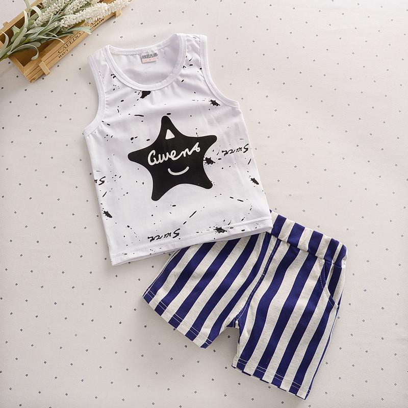 7c3add72c Compre Ropa De Verano Para Bebés Ropa De Bebé 2019 Nueva Moda Ropa Para  Bebés Ropa Casual Chaleco + Pantalón Traje De Niño 0 3 Años Conjunto De Ropa  A ...