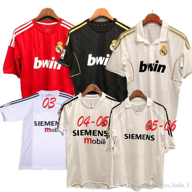 online retailer 02af9 09b99 Thailand Real Madrid 2003 2012 Retro soccer jerseys Pepe Sergio Ramos  Ronaldo Kaka Benzema Ozil Marcelo Alonso football suit