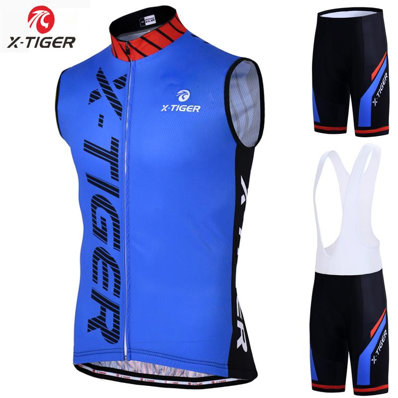 X-Tiger Pro Cycling жилет Roupa Ciclismo Mountain Bike Одежда Sumemr рукавов Велоспорт Набор дышащая Велоспорт Одежда