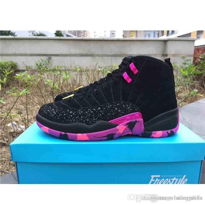 reputable site aeee7 b7e82 Cheap WomenS Jumpman 12 XII basketball shoes 12s DB Doernbecher Vachetta  Tan Hyper Pink Jade Violet UNC CNY J12 sneakers youth kids with box