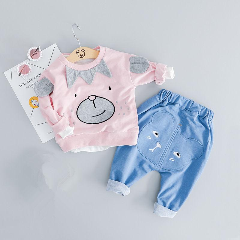 9050d4f683888 Baby Girl Outfit Set Newborn Clothes Cute T-shirt Pants Kids Outfits ...