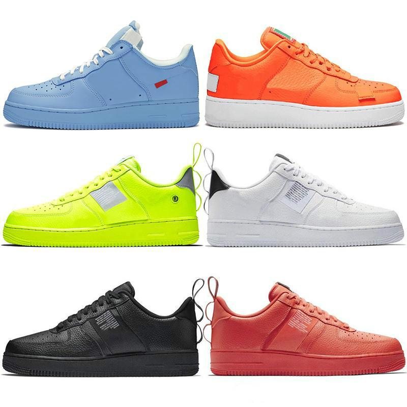 2019 New Low MCA Università Blu 1s Dunk Utility Skateboard pattini casuali Alta Cut verde Triple bianco Frumento nero uomini donne scarpe da ginnastica di sport