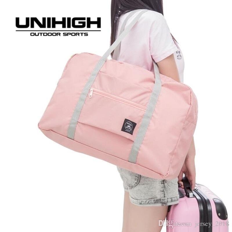 ffad2dff029b 2019 Hot Sports Gym Bags Portable Female Folding Storage Outdoor Training  Travel Handbag Large Capacity Women Fitness Yoga Duffle Bag  86770 From ...
