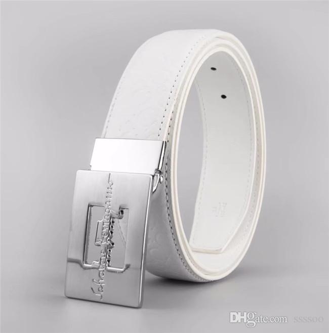 b34aaecb20914 Needle Buckle Belts Men Women with Brand Box Paris Luxury Pure Color ...