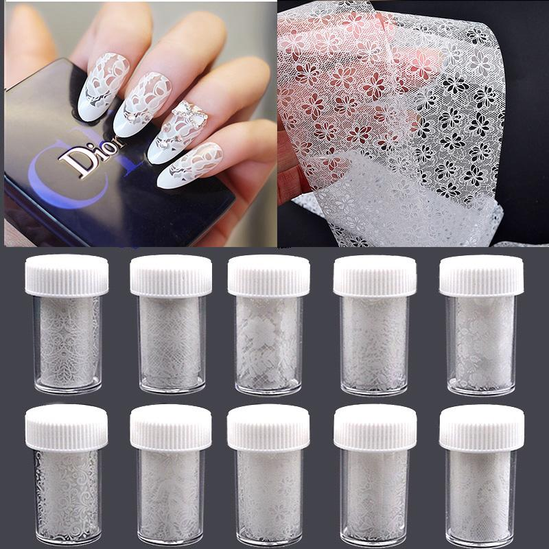1 Box Hot Fashion White Lace Nail Art Sticker Star Paper DIY Manicure Nail  Art Decoration Wholesale Nail Supplies Vinyl Wall Art From Xiatian2 8b58d1dc4282
