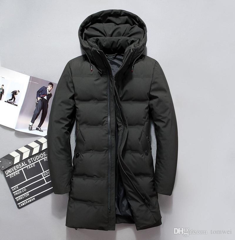 super popular 56168 2a0b4 Piumino da uomo invernale con piumino Cappotto lungo piumino Parka con  cappuccio da uomo Slim Fit Cappotto da uomo caldo Wnidbreaker L-4XL