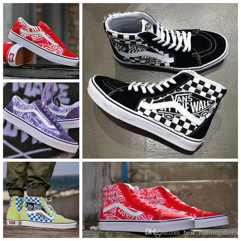 bae07aa52c 2019 2019 VANS Old Skool G Dragon Style 36 SK8 Hi White Black Zapatillas De  Deporte Women Men Canvas Casual Skate Shoes Mens Trainers Sneakers From ...