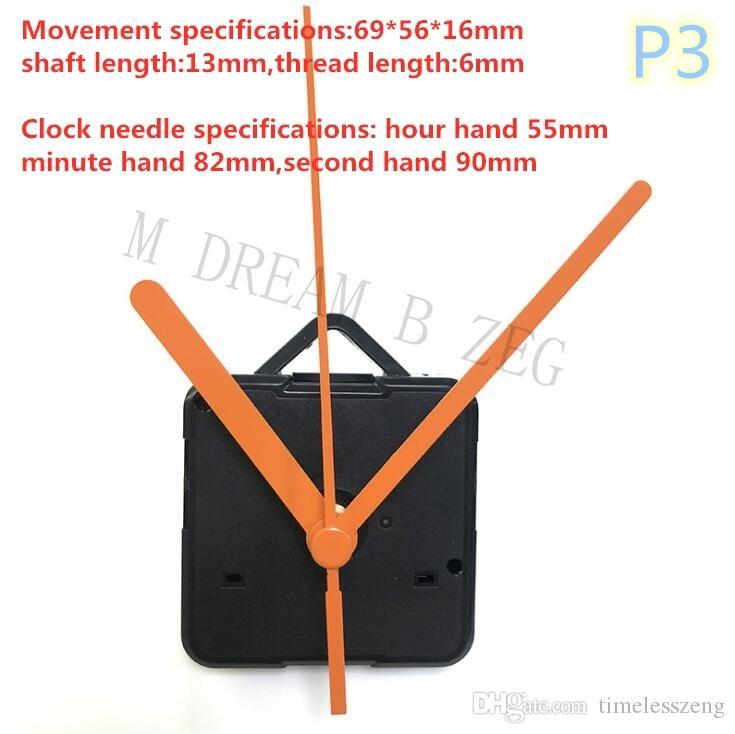 DIY Saat Mekanizması Kuvars Saat Hareketi Mekanik Kiti Mil Mekanizması Tamir El Setleri ile Çapraz Dikiş Hareketi Saat Aksesuarları