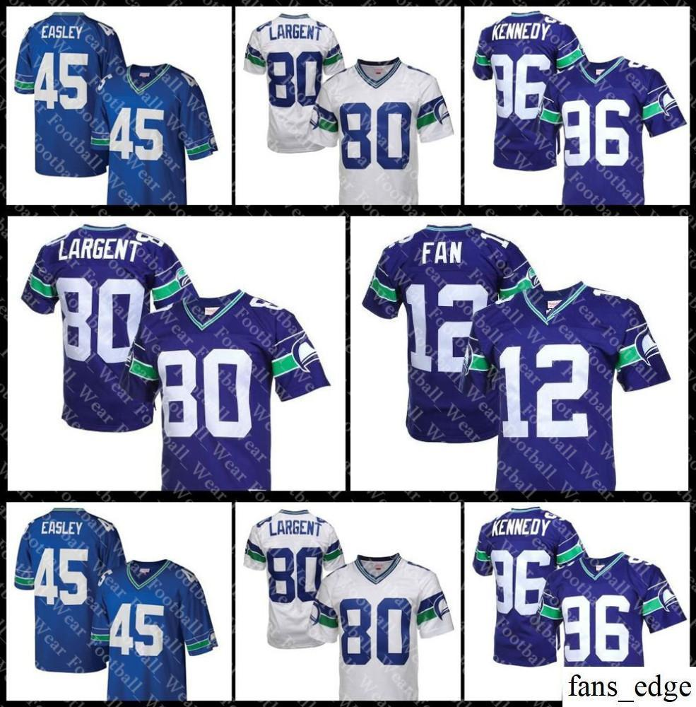 differently b95e4 0bff4 Seattle Jersey Mens 80 Steve Largent 37 Shaun Alexander 12 FAN Seahawks 96  Cortez Kennedy retro football Jerseys