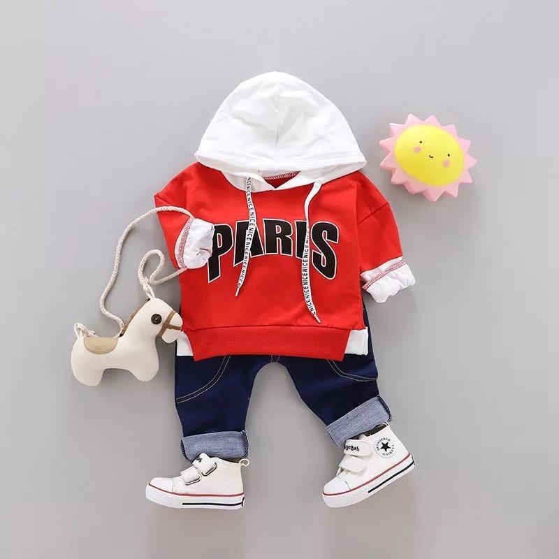 57f0de297e26e Acheter Vêtements Pour T Shirt À Manches Longues Garçon Garçon + Pantalon  Deux Pièces Automne Printemps Lettre Imprimer Costume De Sport Pour Enfants  ...