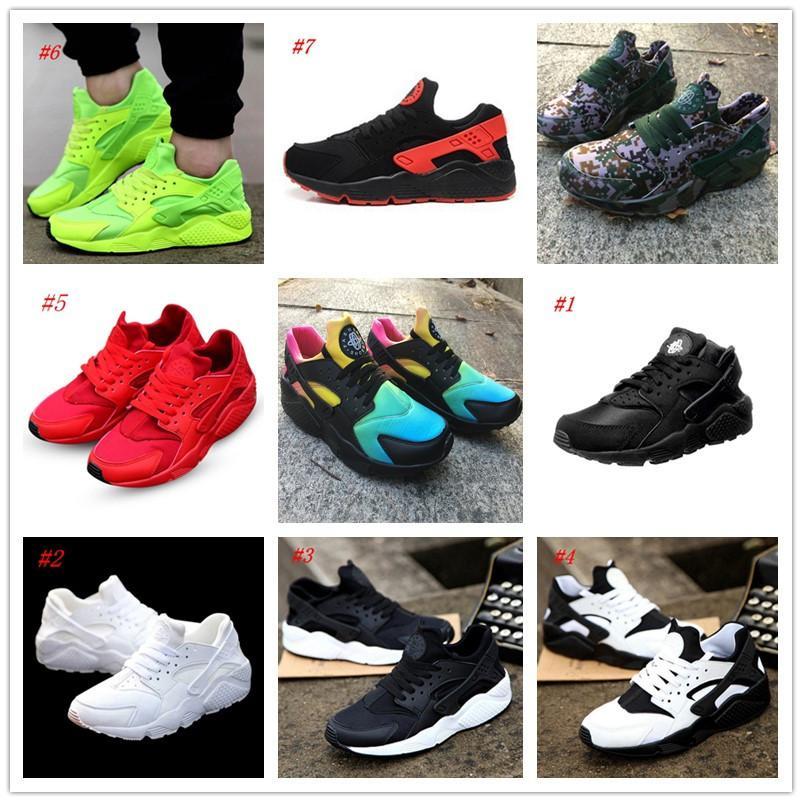 0b1432b5edee 2018 New Air Huarache Rainbow Sky Blue Running Shoes For Men And Women  Huaraches Ultra Shoes Multicolor Black Huarache White Sneakers Walking Shoes  Flat ...