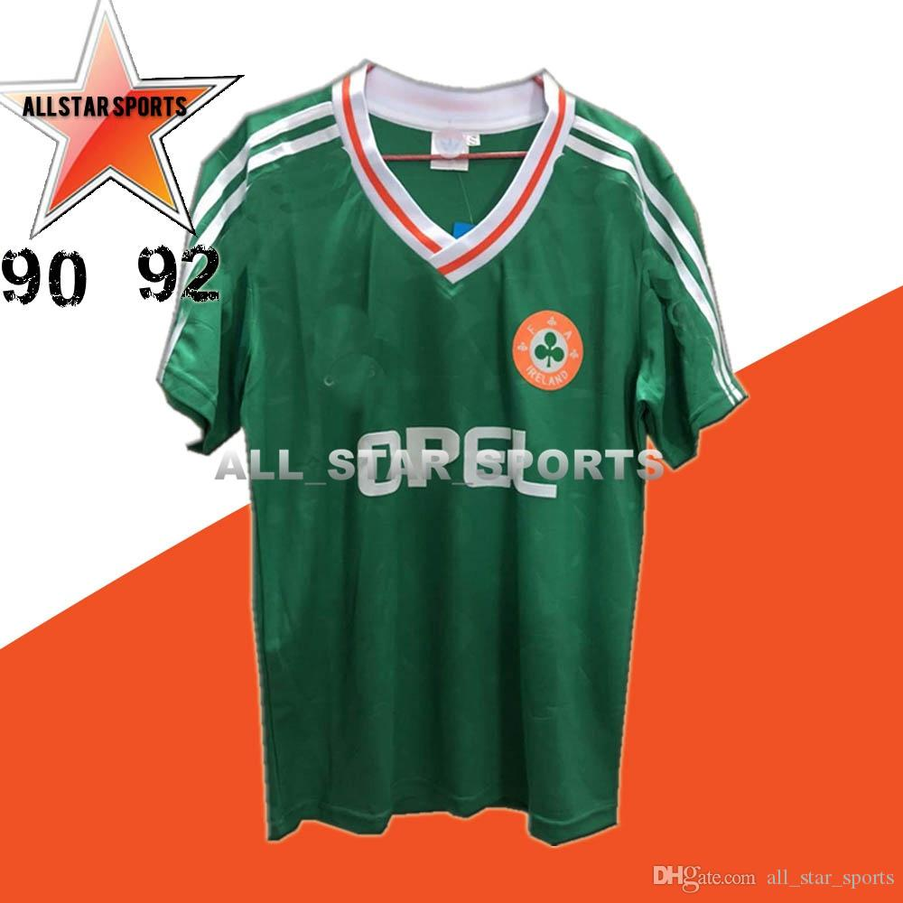 19febd767 2019 Top Thailand 1990 1992 Ireland RETRO Soccer Jerseys Republic Of  Ireland National Team Jersey 90 World Cup Football Kit Soccer Shirt Green  From ...