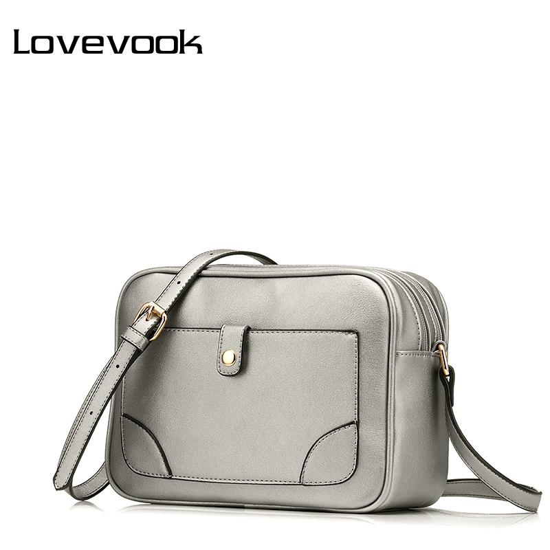 LOVEVOOK Brand Shoulder Bags for Women 2018 Luxury Handbags Designer  Crossbody Bags Female Solid Flap Bag Black silver brown Y1892708 Online  with ... 975fed2559dd8