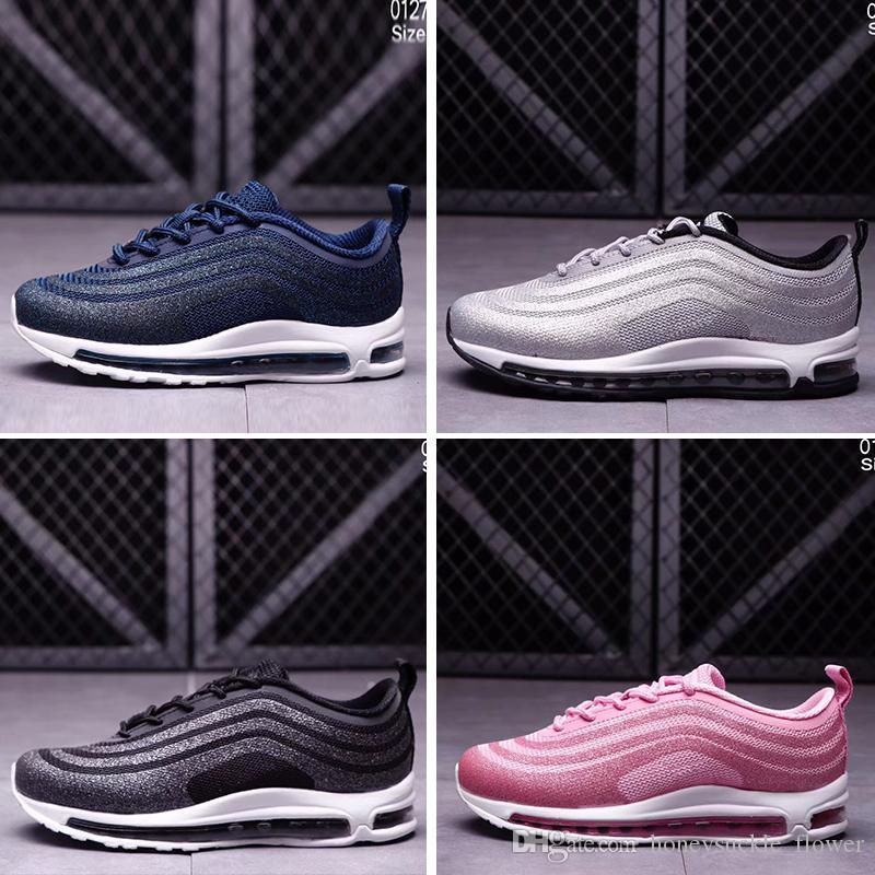 fc274273c Compre Nike Air Max 97 Kids Air 97 LX Glitter Silver Pink Blue Black ...