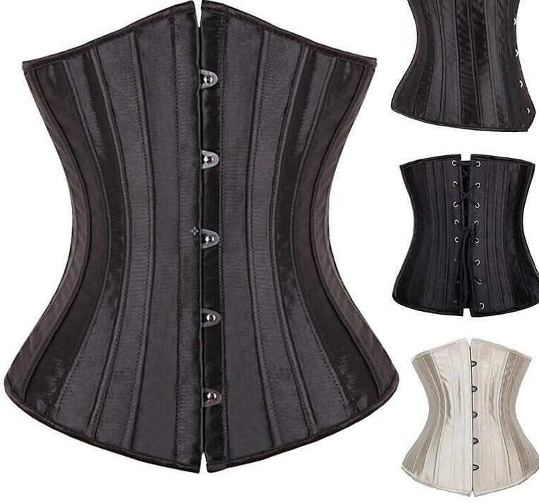 b2f28db853 2019 X 26 Spiral Steel Boned Women Waist Trainer Cincher Shapewear Underbust  Corsets And Bustiers Sexy Lingerie Top Plus Size S 6XL From Haodei